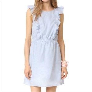 Madewell Bellflower Ruffle Dress Blue Size 0